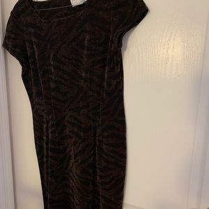 Brown and black sparkly dress